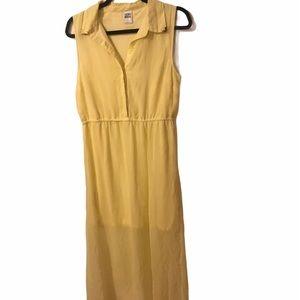 Vero Moda Yellow Sleeveless Shirt Dress